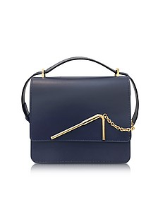 Deep Navy Medium Straw Bag - Sophie Hulme