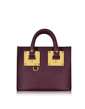 Aubergine Saddle Leather Albion Box Tote Bag