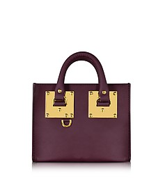 Aubergine Saddle Leather Albion Box Tote Bag - Sophie Hulme