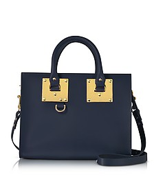 Deep Navy Albion Saddle Leather Medium Tote Bag - Sophie Hulme
