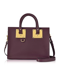Aubergine Albion Saddle Leather Medium Tote Bag - Sophie Hulme