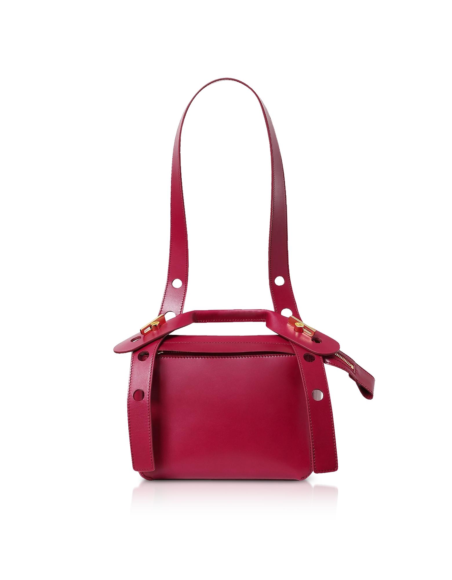 Soft Leather Bolt Saddle Bag