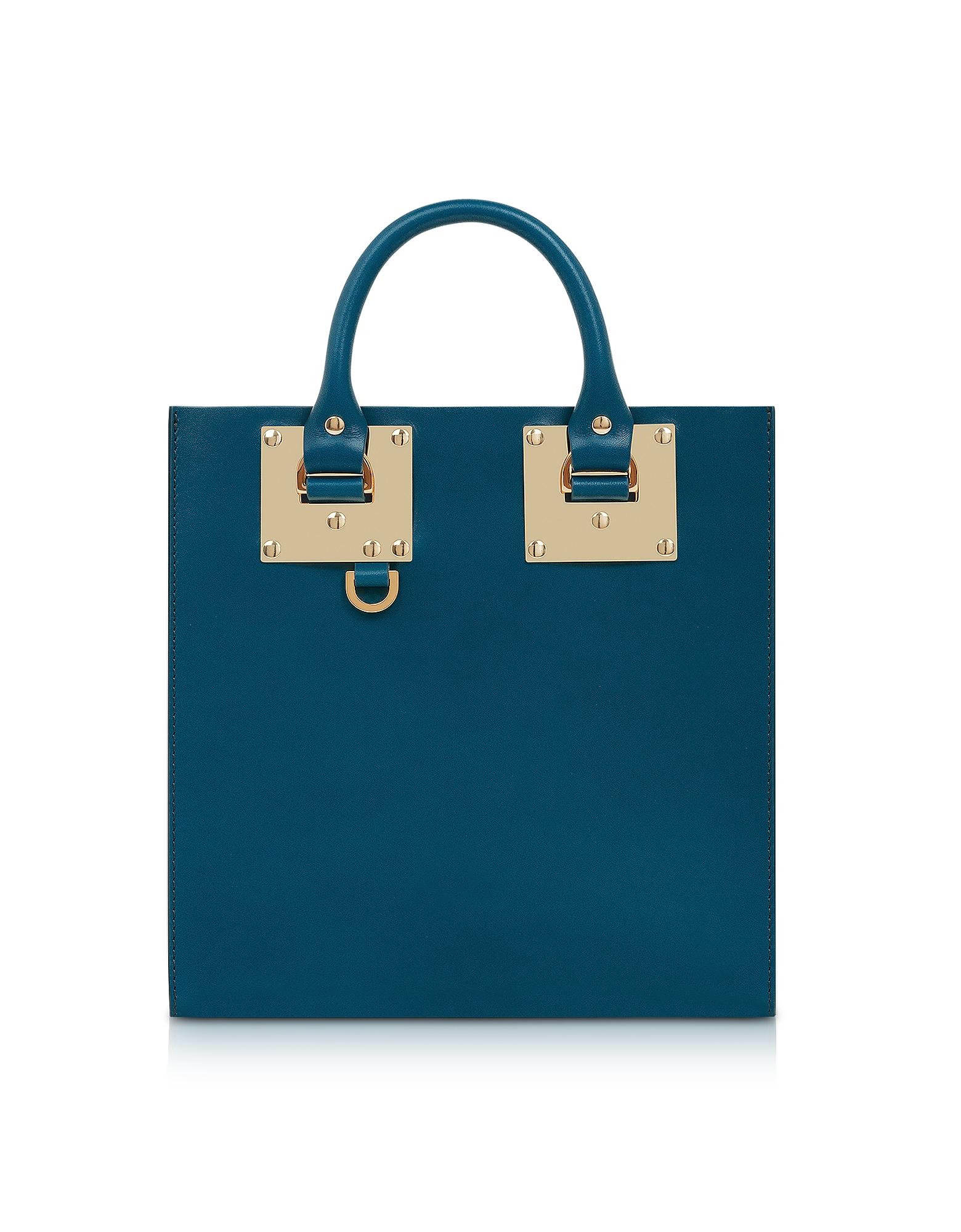 Blue Canard Square Leather Tote