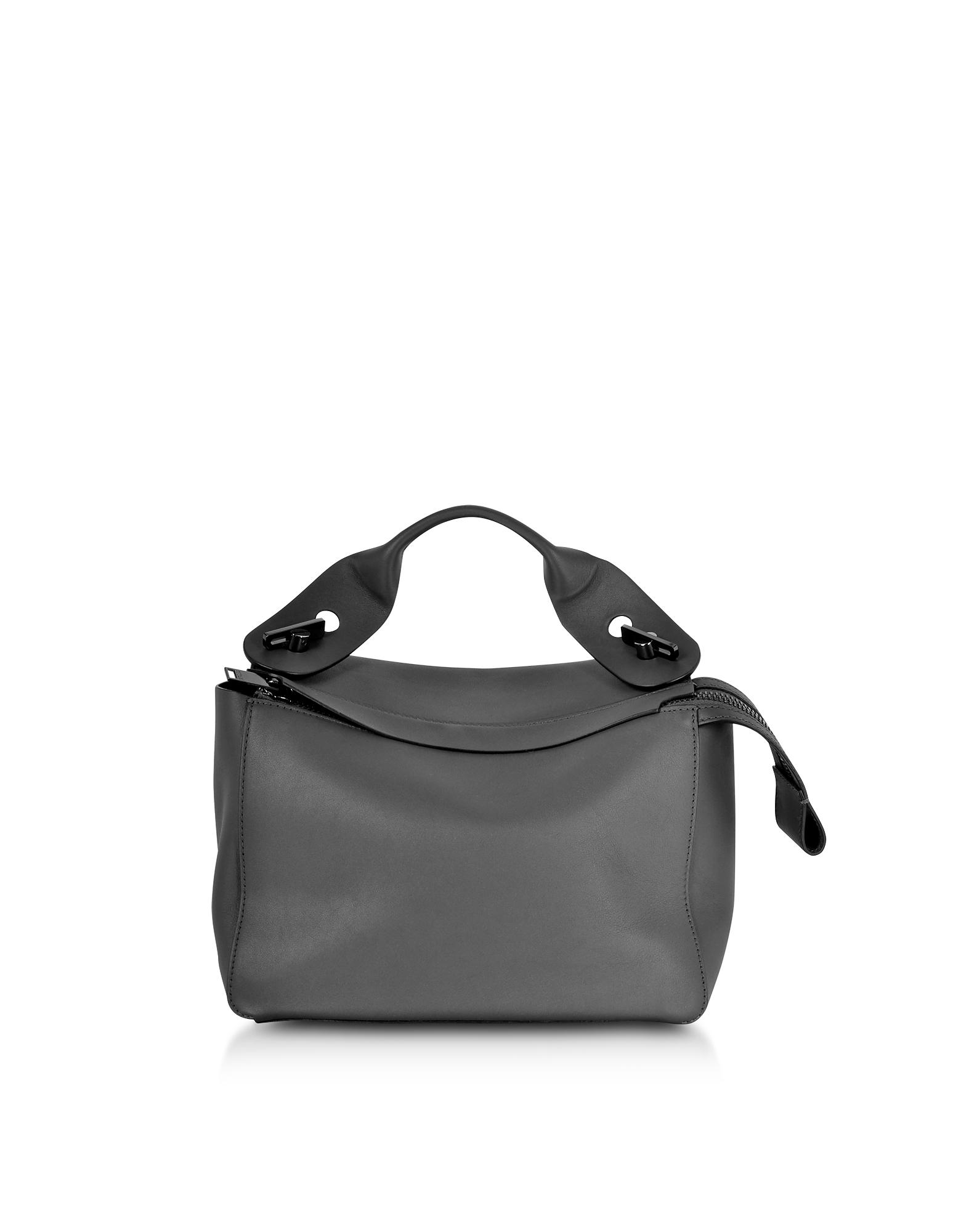 Sophie Hulme Handbags, Charcoal Bolt Shoulder Bag