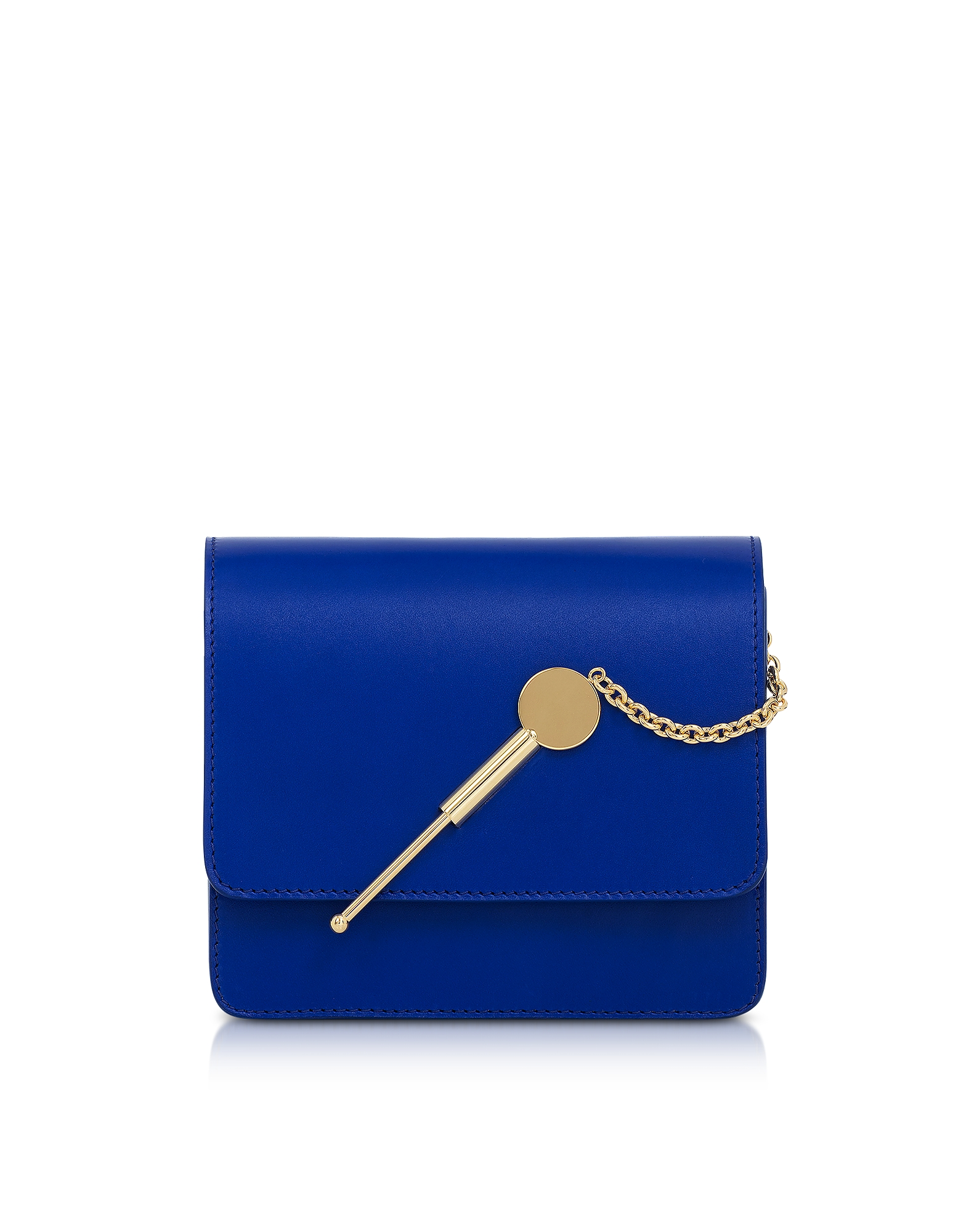 Sophie Hulme Handbags, Klein Blue Small Cocktail Stirrer Bag