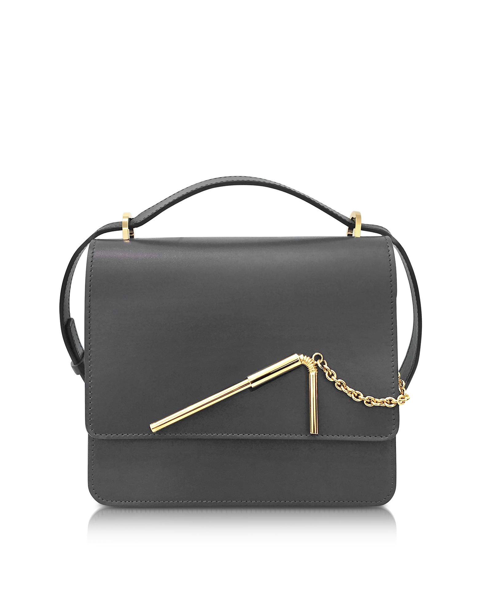 Sophie Hulme Handbags, Charcoal Medium Straw Bag
