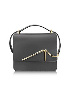 Charcoal Medium Straw Bag - Sophie Hulme