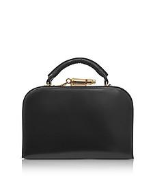 Black Leather Whistle Case Bag - Sophie Hulme