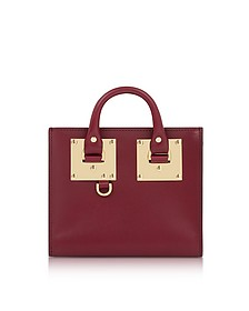 Dark Red Saddle Leather Albion Box Tote Bag - Sophie Hulme