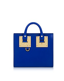 Klein Blue Saddle Leather Albion Box Tote Bag - Sophie Hulme