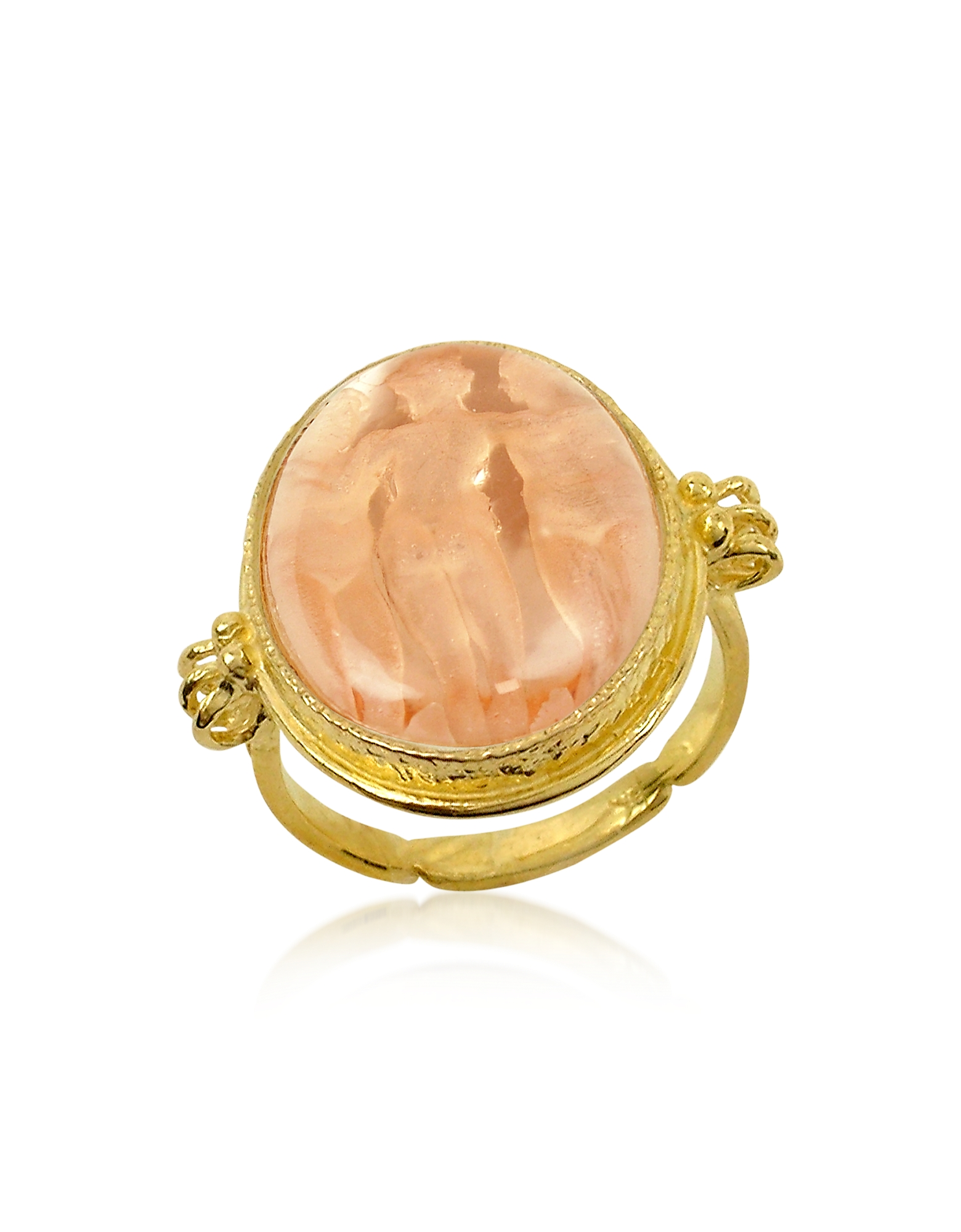 Tagliamonte Cameo, Three Graces - 18K Gold Rose Mother of Pearl Cameo Ring