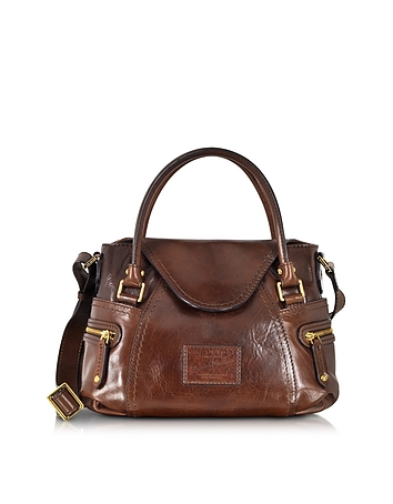 The Bridge - Icons Gaucho Small Leather Satchel w/Shoulder Strap