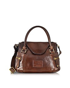 Icons Gaucho Small Leather Satchel w/Shoulder Strap - The Bridge