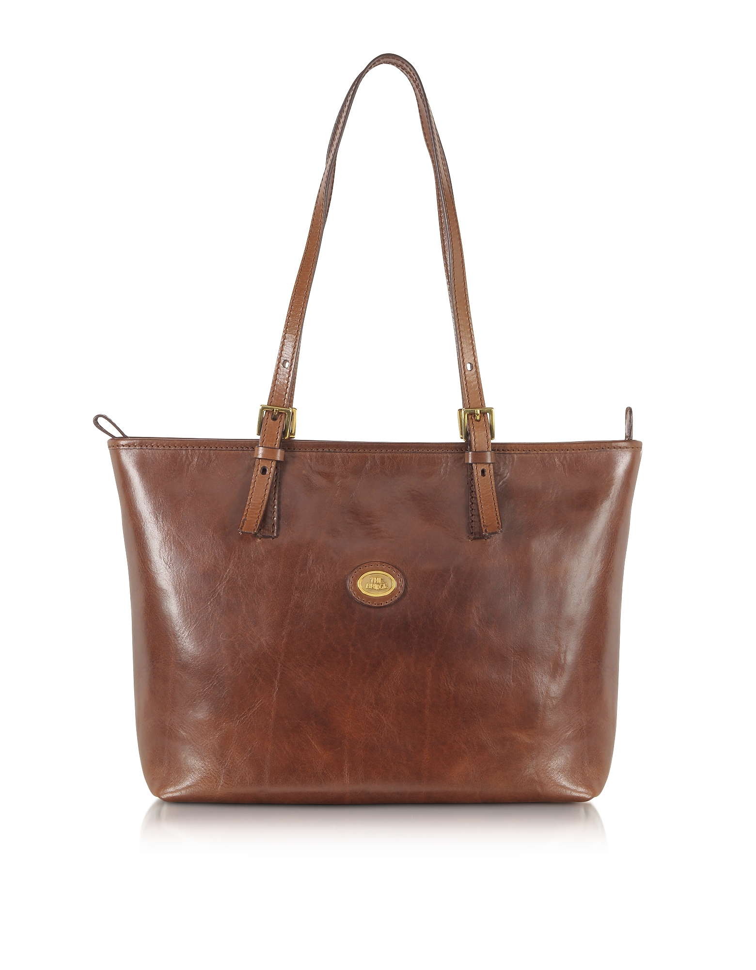 The Bridge Handbags, Story Donna Large Brown Leather Tote