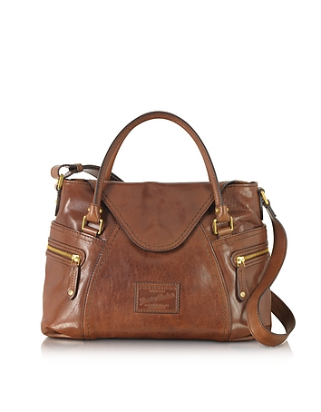 The Bridge - Icons Gaucho Medium Marrone Leather Tote w/Shoulder Strap