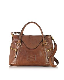 Icons Gaucho Medium Marrone Leather Tote w/Shoulder Strap - The Bridge