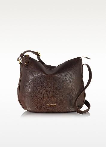 Sfoderata Soft Dark Brown Leather Shoulder Bag - The Bridge