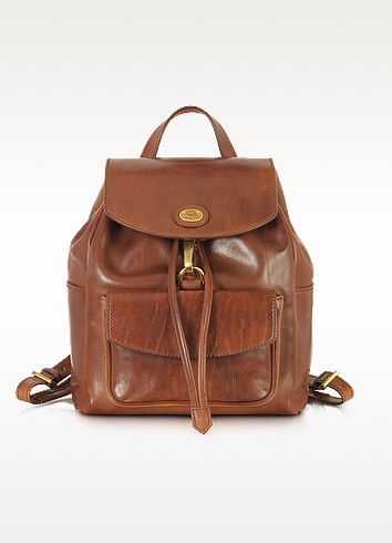 Story Donna Marrone Leather Backpack - The Bridge