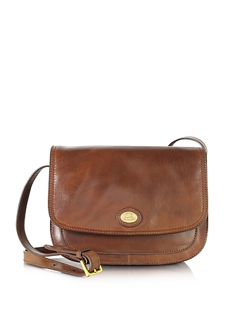 Story Donna Marrone Leather Crossbody Bag