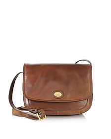 Story Donna Marrone Leather Crossbody Bag - The Bridge