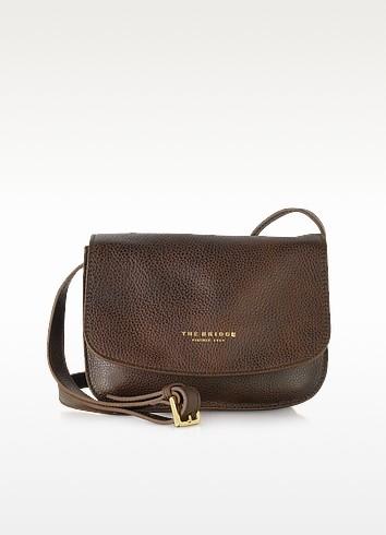 Sfoderata Soft Dark Brown Leather Crossbody Bag - The Bridge