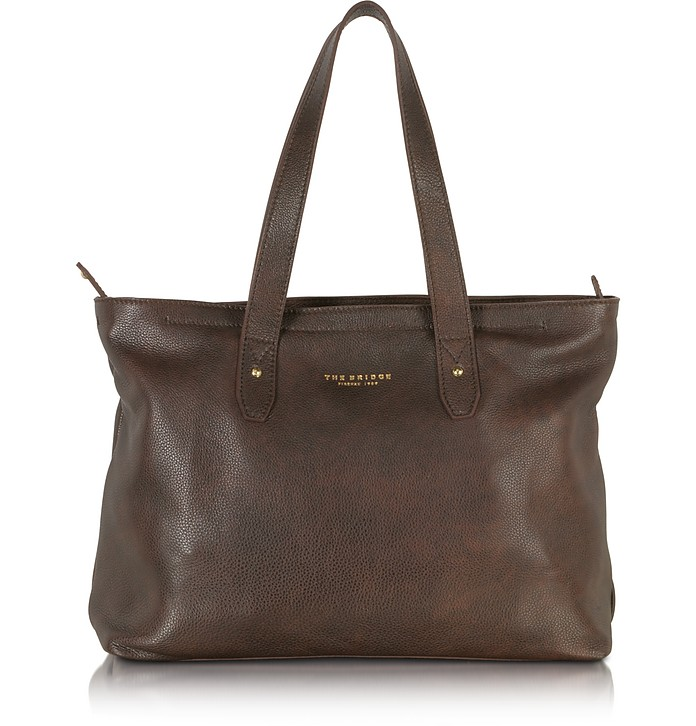 Sfoderata Large Leather Tote - The Bridge