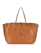 The Bridge Mahe Shopper in Pelle Cognac - the bridge - it.forzieri.com