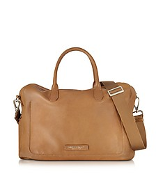 Brown Leather Tote w/Shoulder Strap - The Bridge