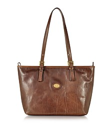 Brown Leather Tote - The Bridge