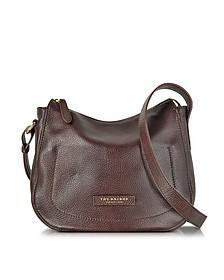 Plume Soft Donna Dark Brown Leather Shoulder Bag - The Bridge