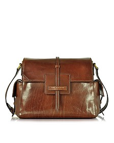 Icons Marrone Leather Shoulder Bag - The Bridge