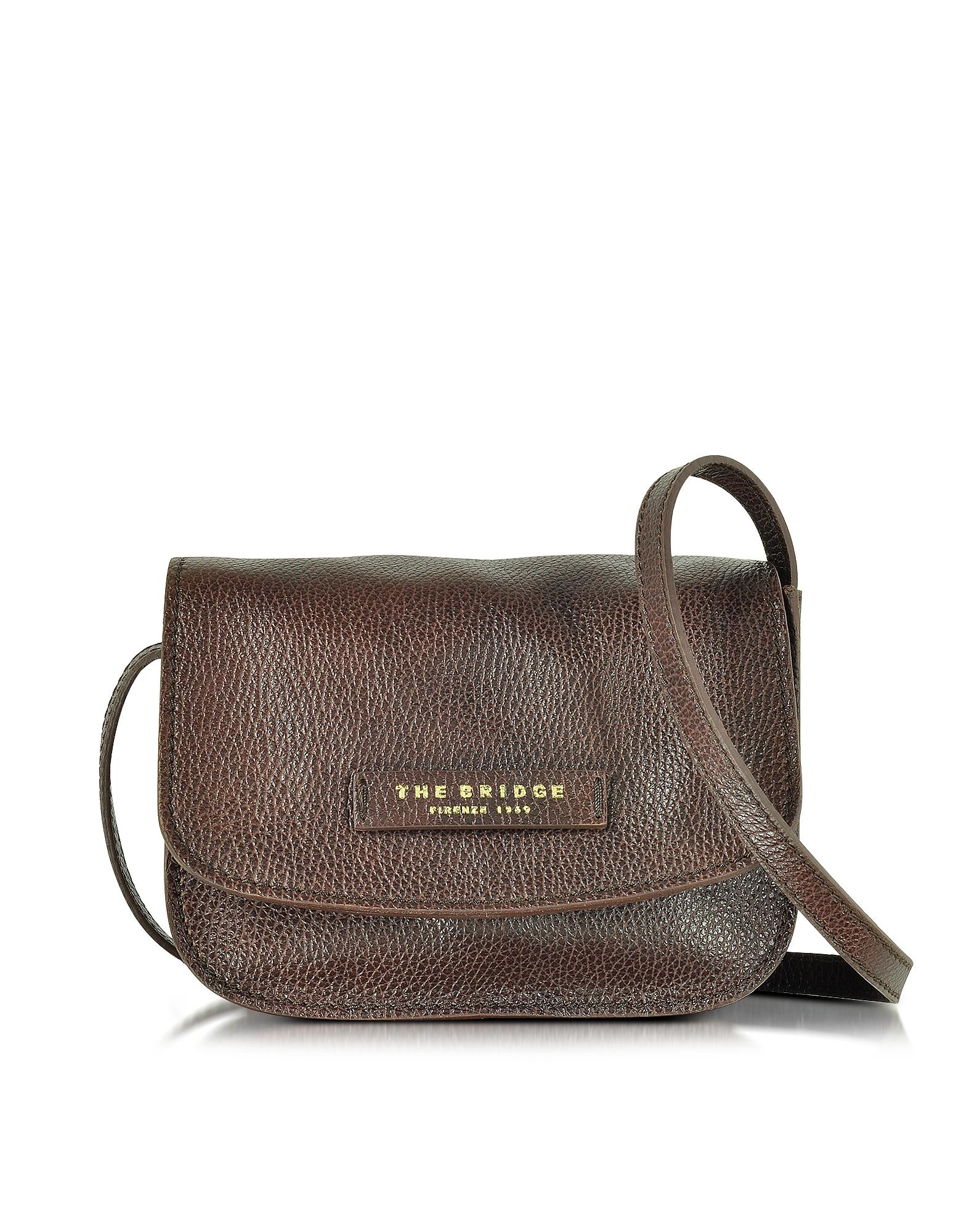 Фото Plume Soft Donna - Темно-коричневая Кожаная Сумка Через Плечо. Купить с доставкой