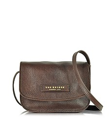 Plume Soft Donna Dark Brown Leather Crossbody Bag - The Bridge