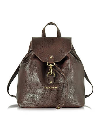 The Bridge - Plume Soft Donna Dark Brown Leather Backpack