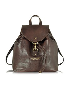 Plume Soft Donna Dark Brown Leather Backpack - The Bridge