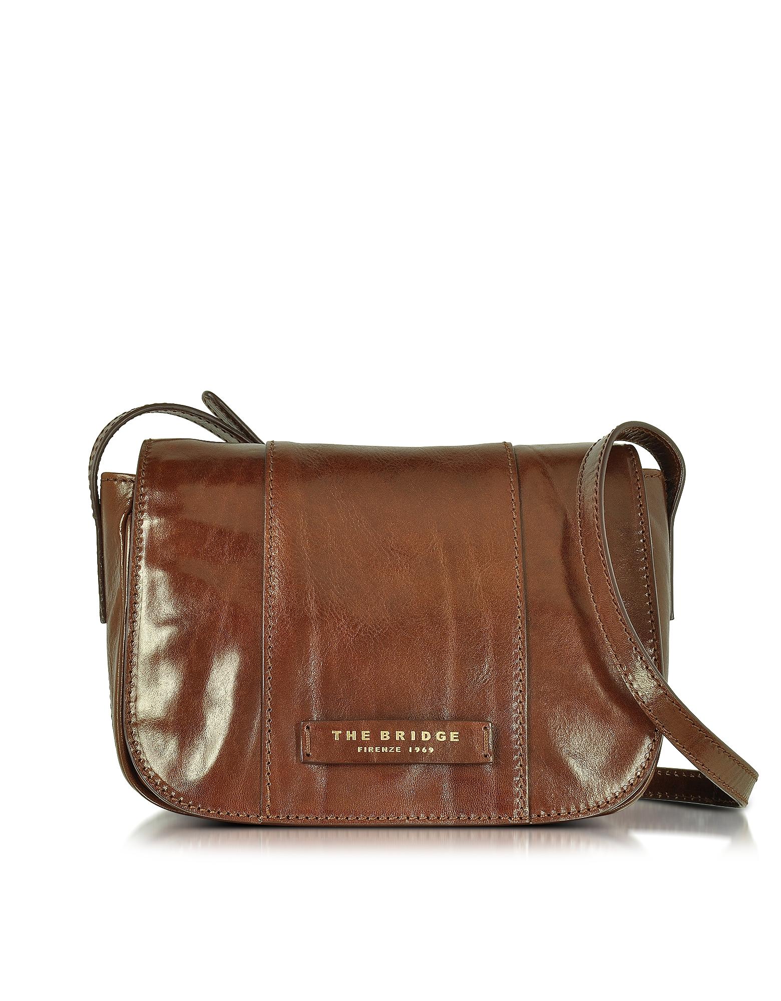 The Bridge Handbags, Passpartout Donna Marrone Leather Crossbody Bag
