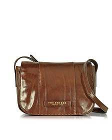 Passpartout Donna Marrone Leather Crossbody Bag - The Bridge