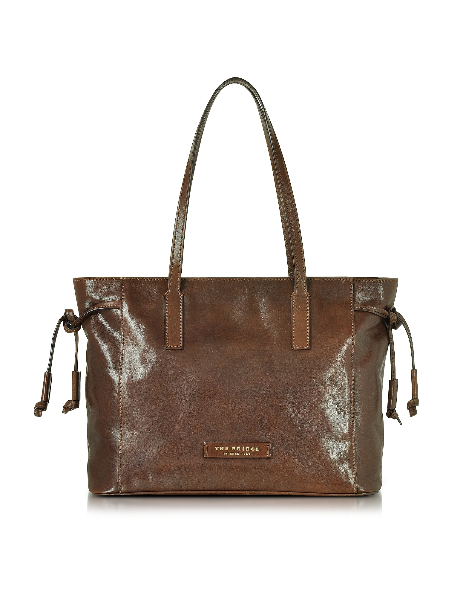 The Bridge Handbags, Passpartout Dark Brown Leather Tote