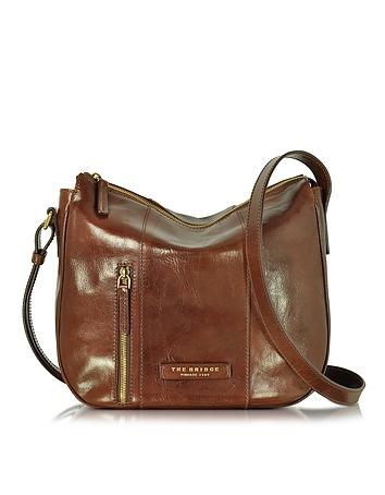 The Bridge - Passpartout Donna Marrone Leather Shoulder Bag