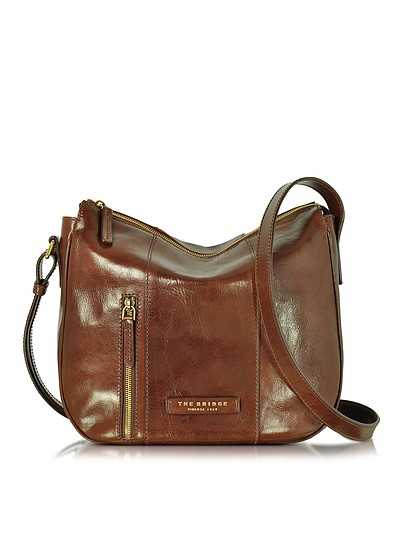 Passpartout Donna Marrone Leather Shoulder Bag - The Bridge