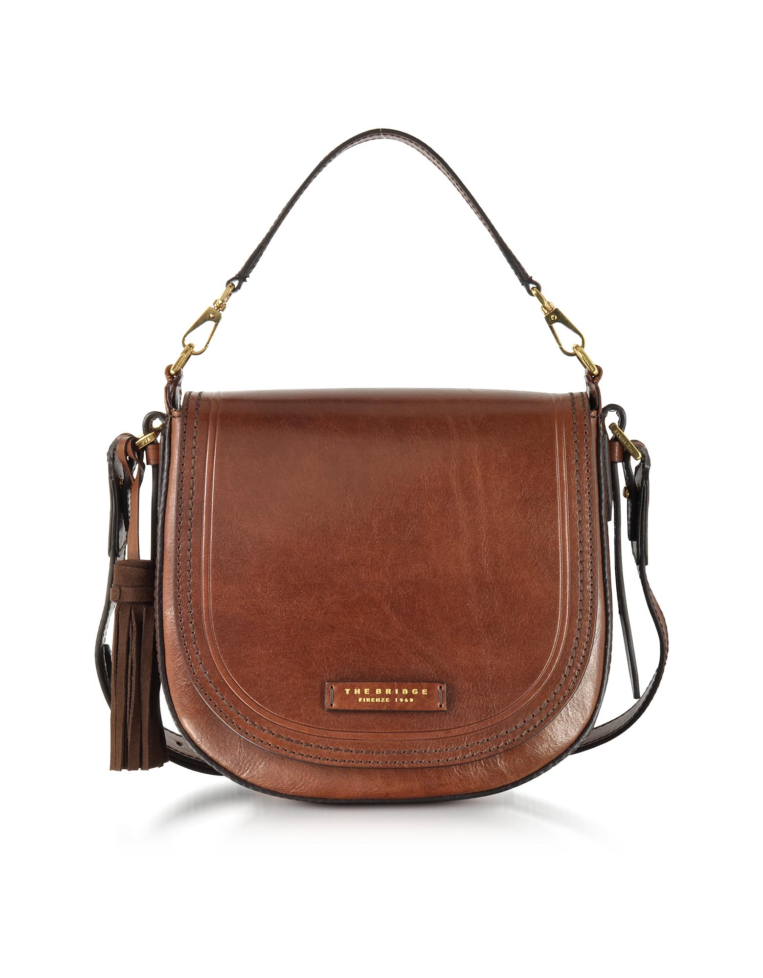 The Bridge Handbags, Large Leather Messenger Bag w/Tassels