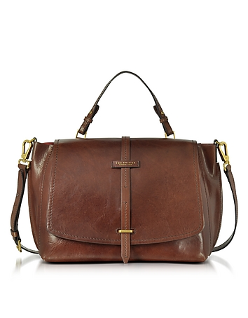 The Bridge - Brown Leather Dual Function Oversized Satchel Bag