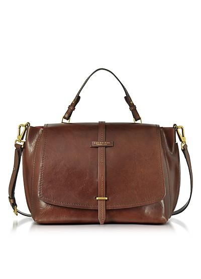 Brown Leather Dual Function Oversized Satchel Bag - The Bridge