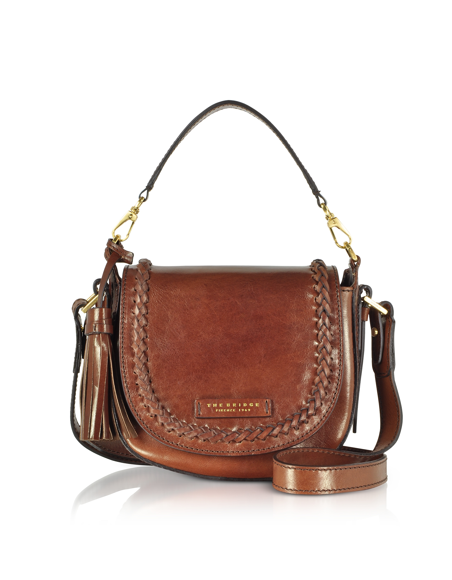 The Bridge Handbags, Murakami Leather Medium Shoulder Bag