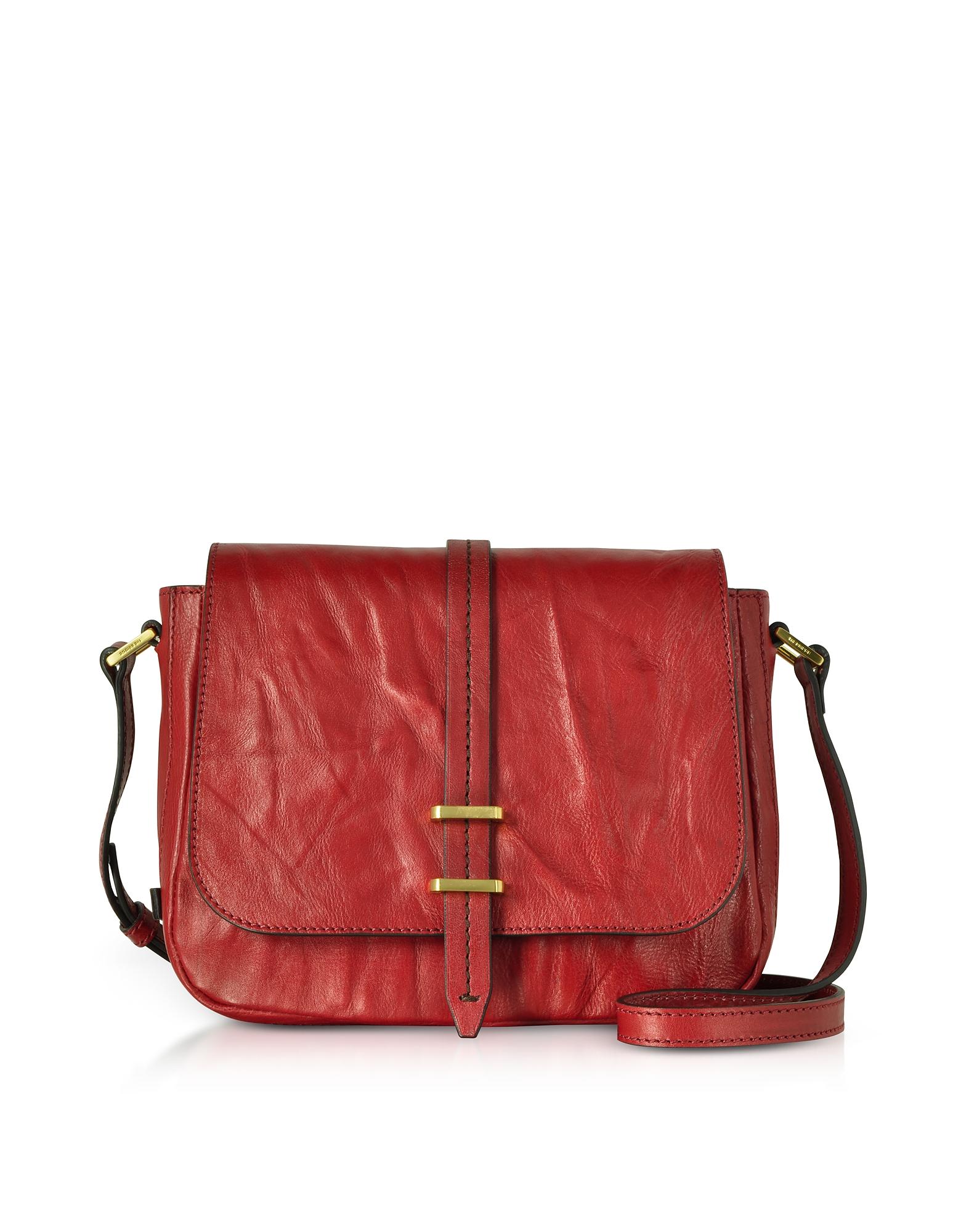 The Bridge Designer Handbags, Rimbaud Leather Medium Shoulder Bag
