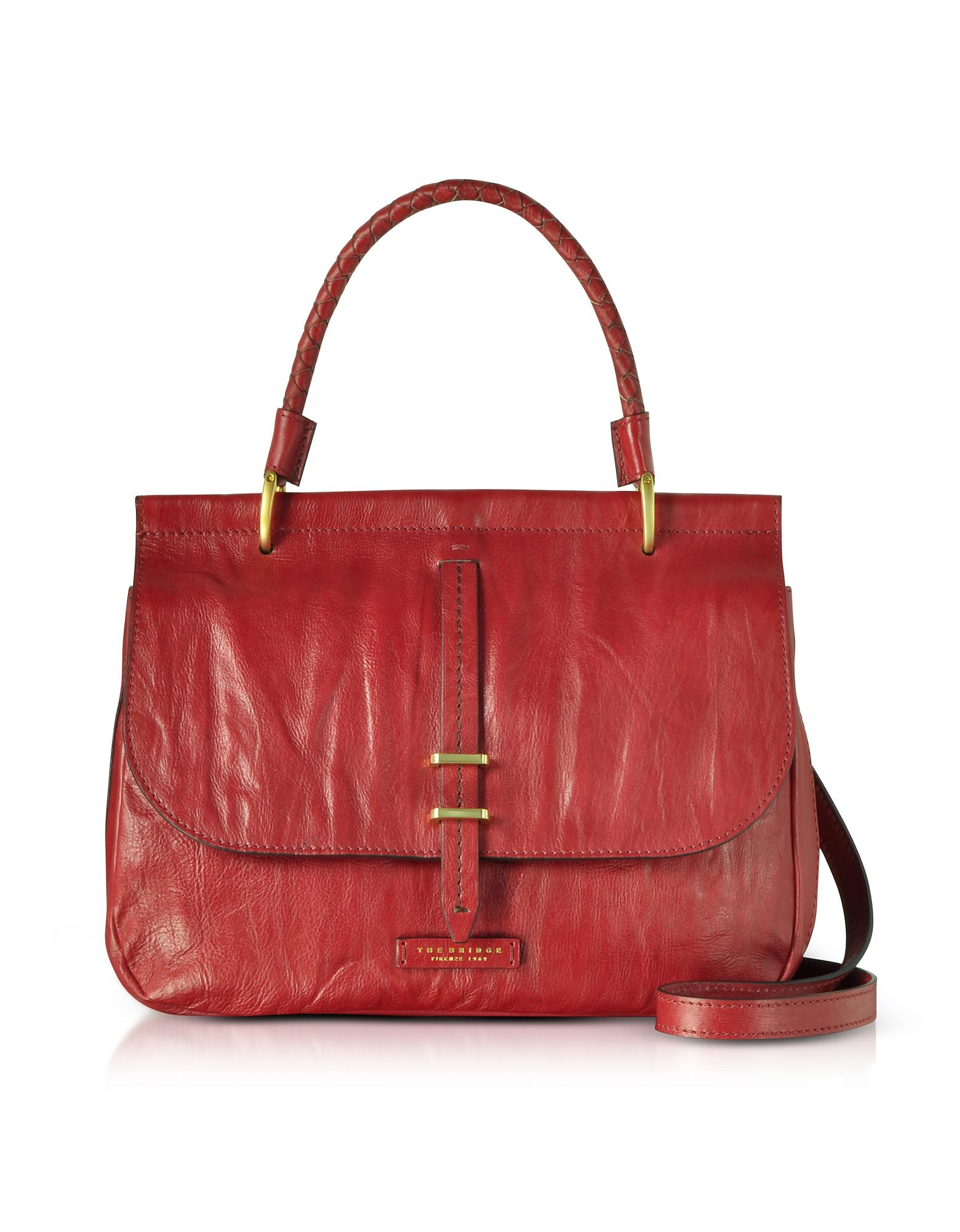 The Bridge Handbags, Rimbaud Washed Leather Large Shoulder Bag