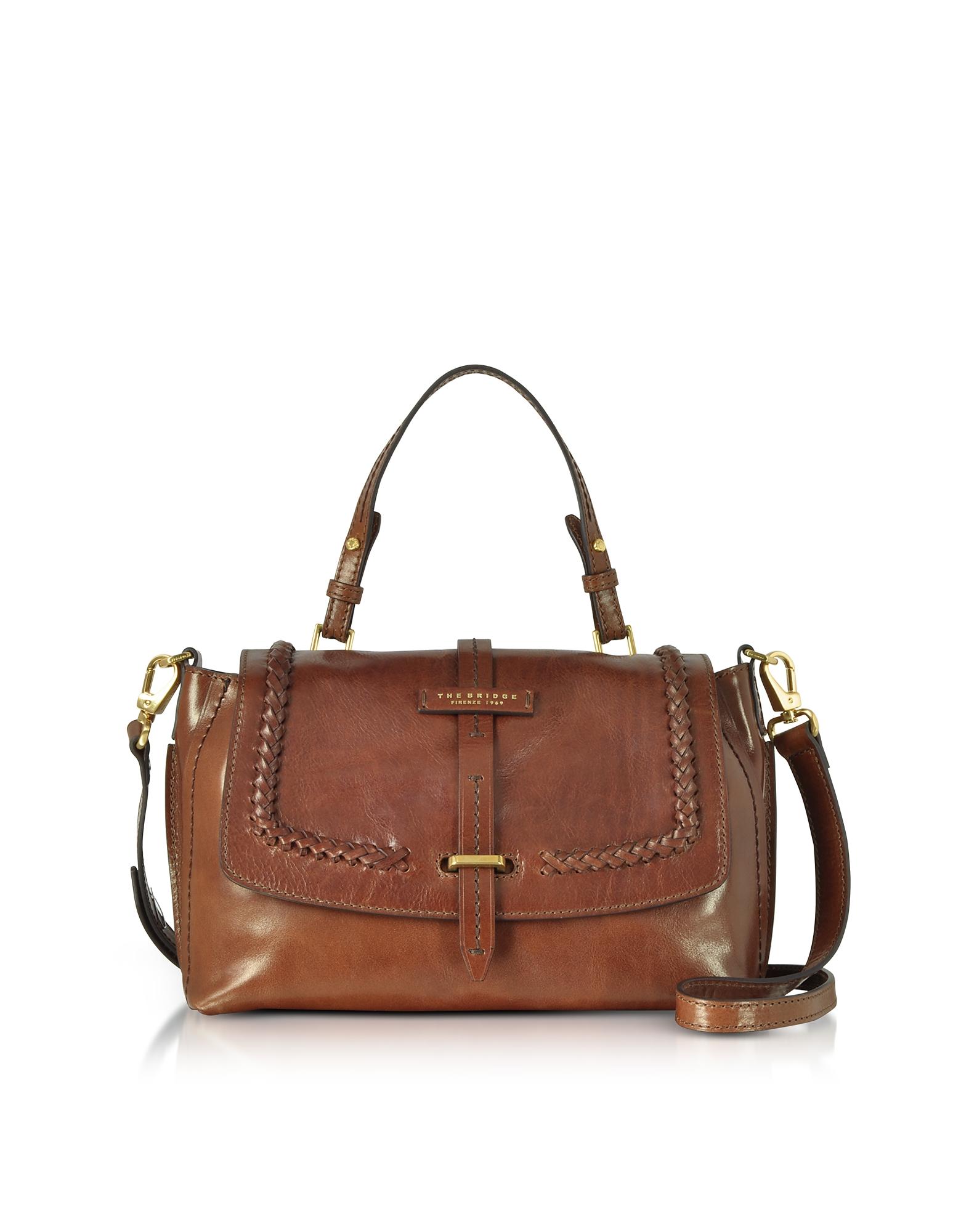 The Bridge Handbags, Murakami Leather Medium Satchel Bag