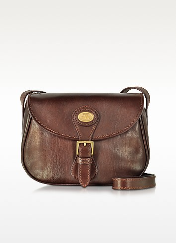 Story Donna Marrone Leather Shoulder Bag - The Bridge