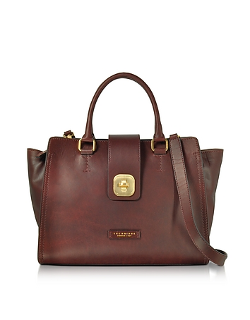 Large Leather Top Handle Satchel Bag