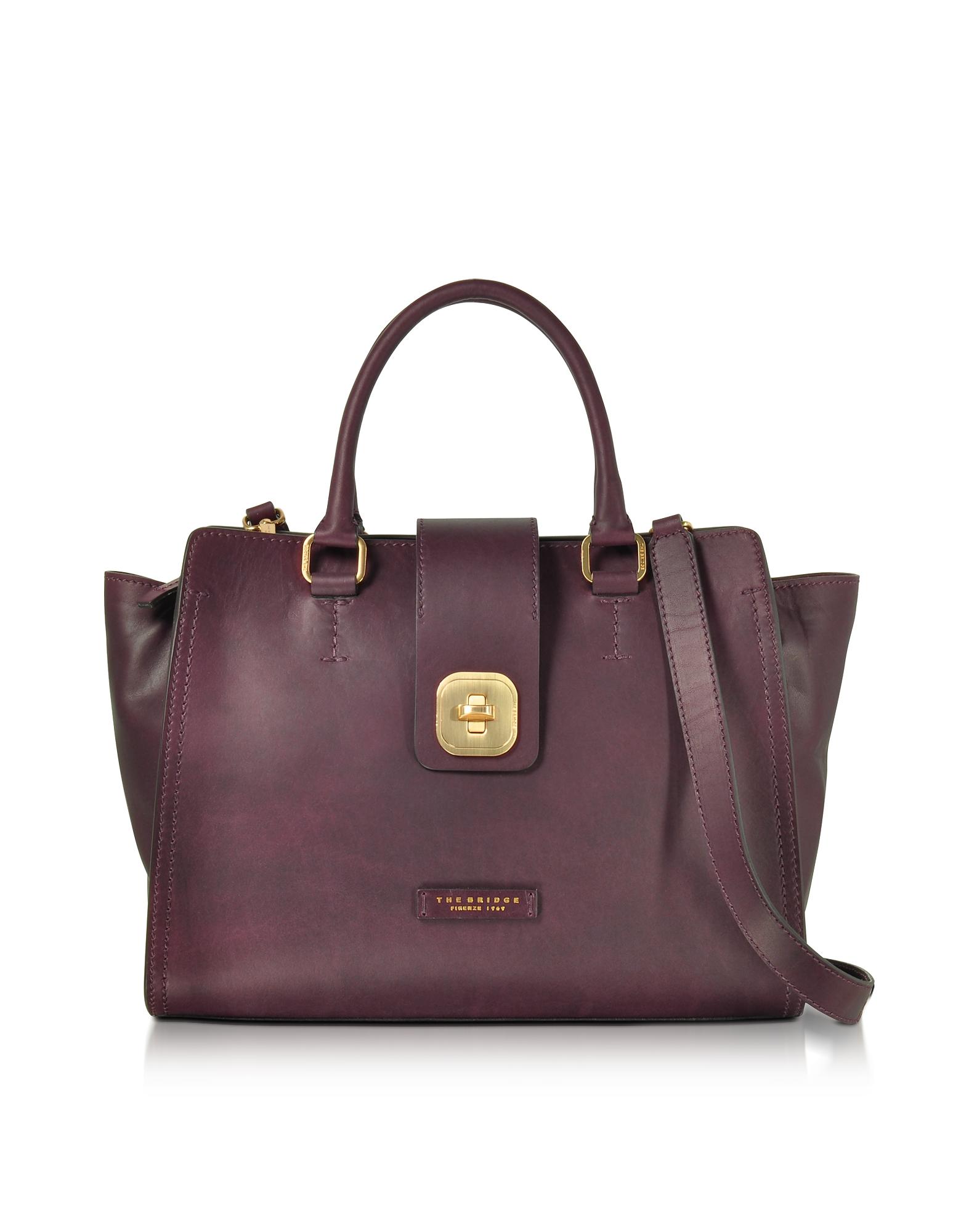 The Bridge Handbags, Large Leather Top Handle Satchel Bag